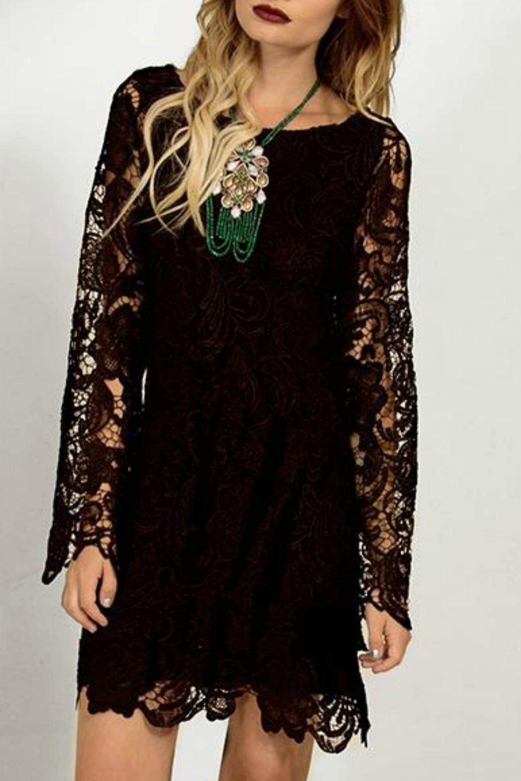 Astars Lace Crochet Shift-Dress - Main Image