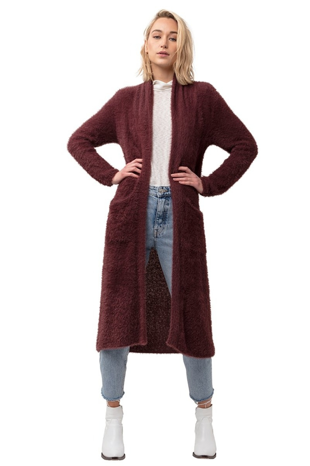 Astars ASTARS Montagne Duster Cardigan - Front Cropped Image