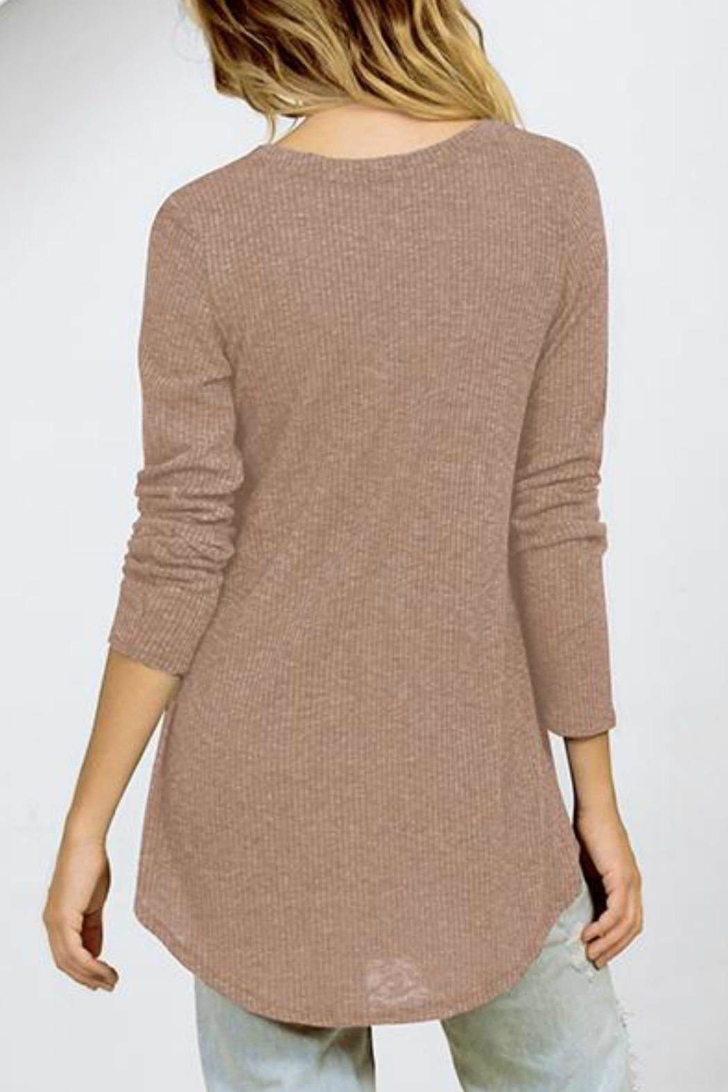 Astars Ribbed Scoop-Neck Tunic - Front Full Image