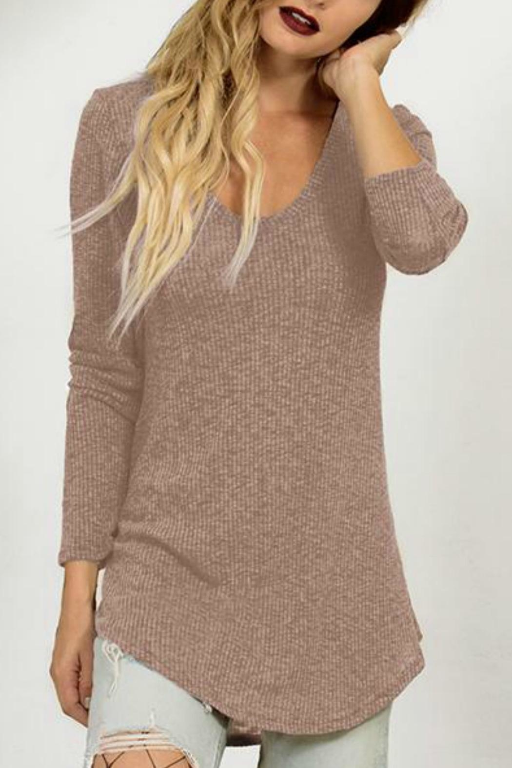 Astars Ribbed Scoop-Neck Tunic - Main Image