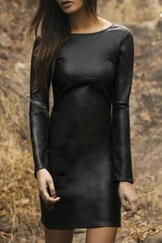Astars Vegan Leather Dress - Front cropped