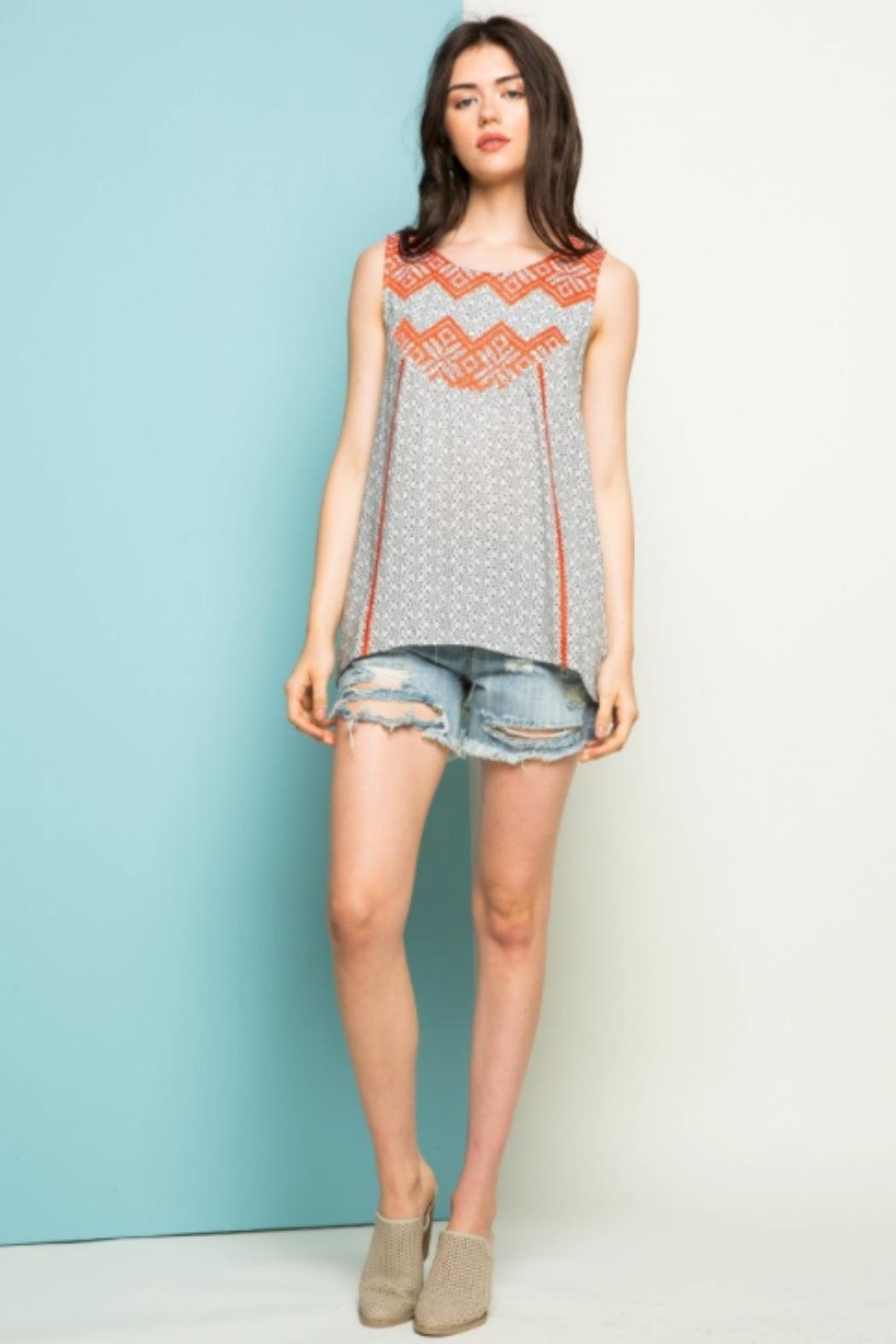 THML Clothing Aster Embroidered Tank - Main Image