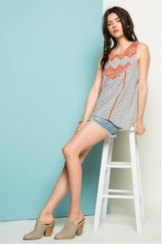THML Clothing Aster Embroidered Tank - Side cropped