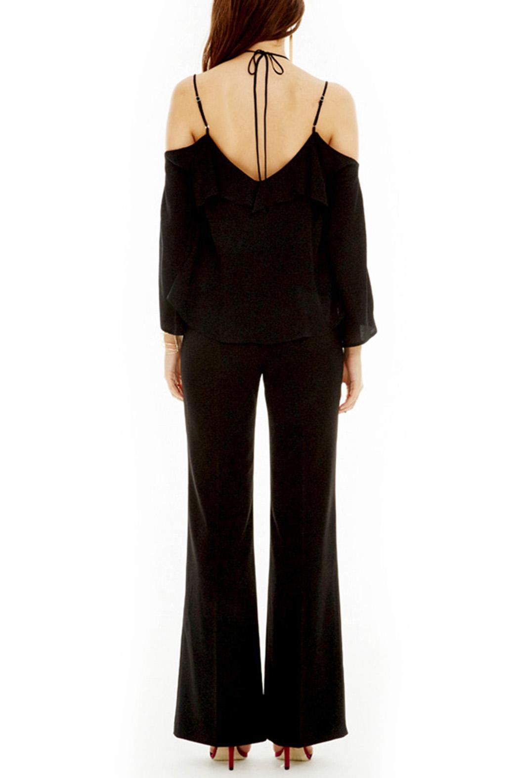 ASTR Black Ruffle Top - Side Cropped Image