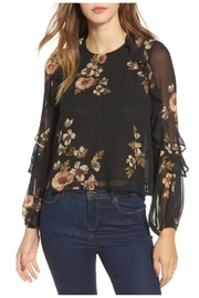 ASTR Floral Blouse - Front cropped