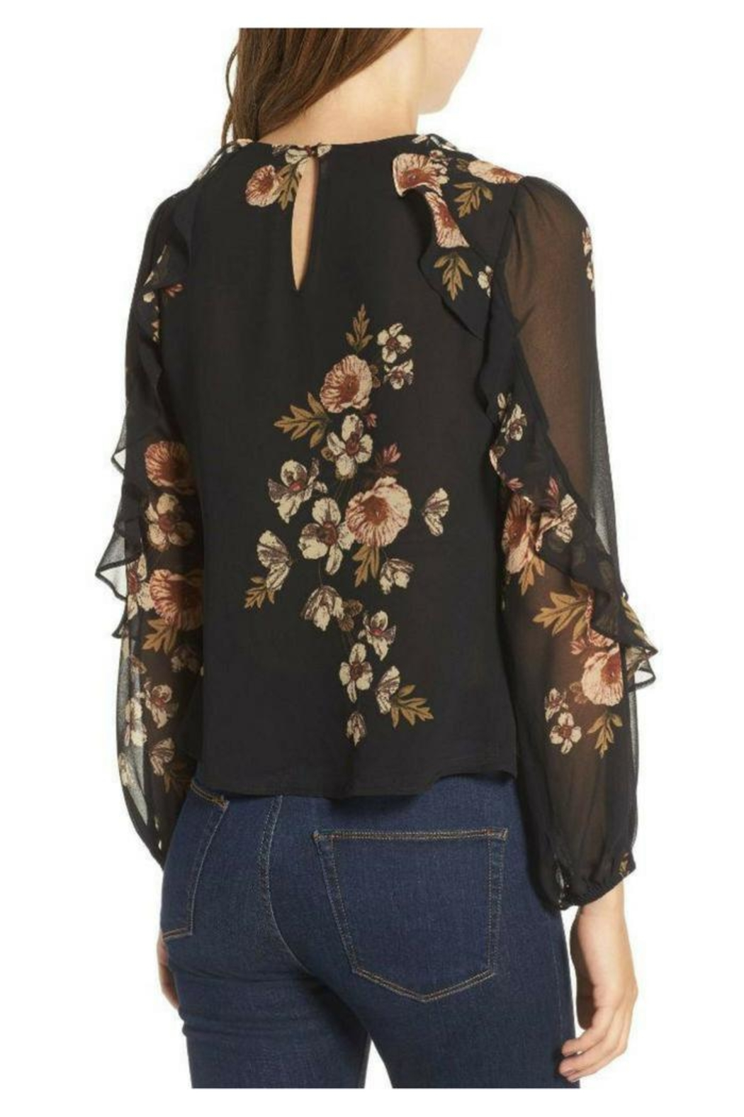 ASTR Floral Blouse - Side Cropped Image