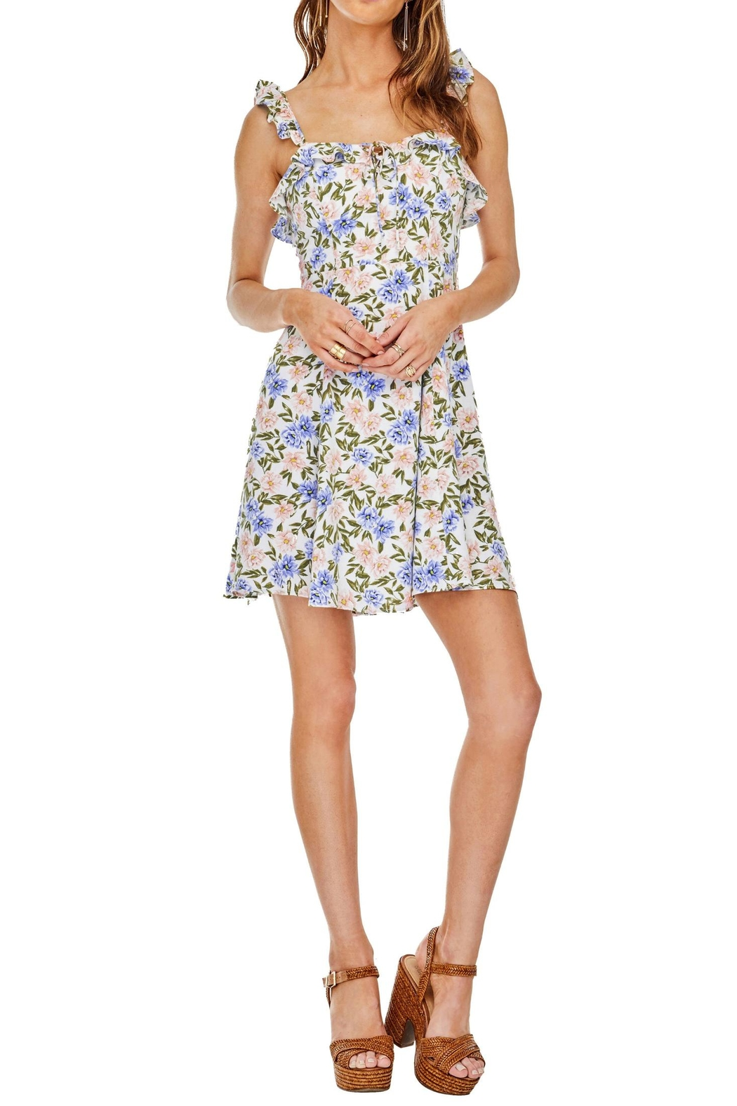 ASTR Floral Hannah Dress - Front Cropped Image