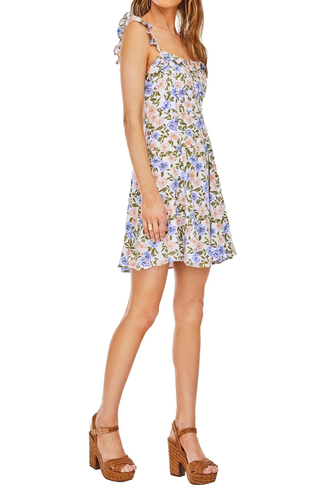 ASTR Floral Hannah Dress - Front Full Image