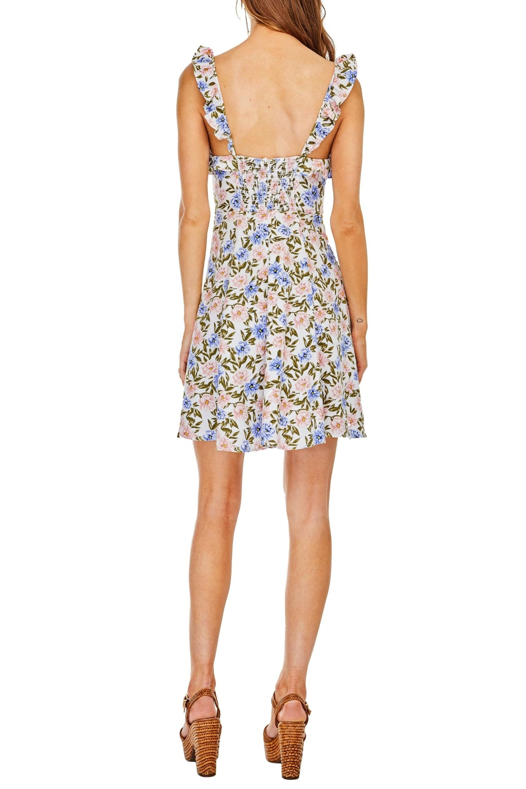 ASTR Floral Hannah Dress - Side Cropped Image