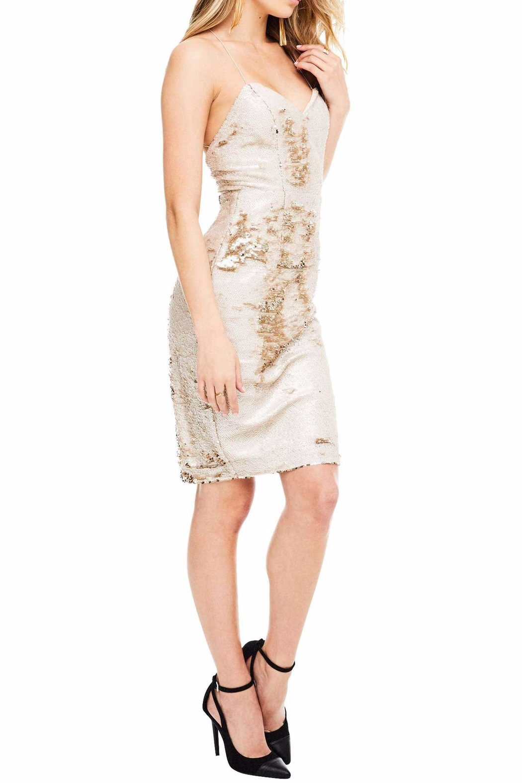 ASTR Francesca Sequin Dress - Side Cropped Image