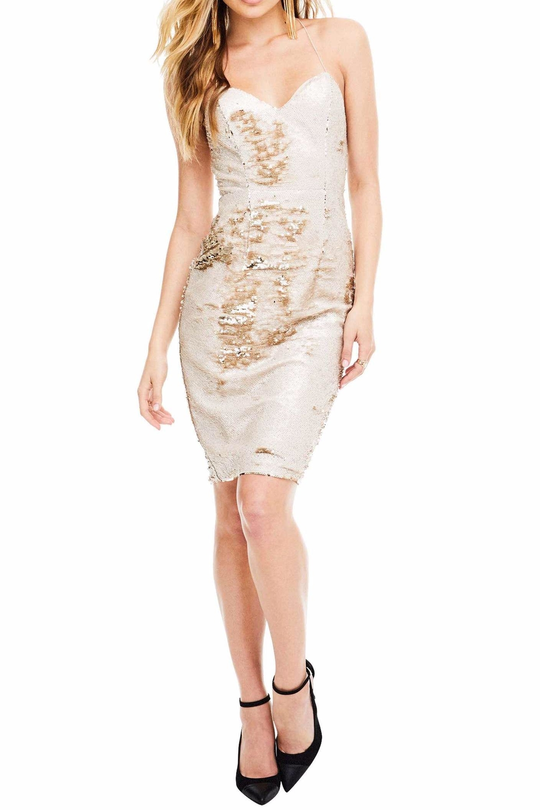 ASTR Francesca Sequin Dress - Front Cropped Image