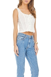 ASTR Macie Eyelet Top - Front full body