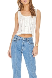 ASTR Macie Eyelet Top - Front cropped