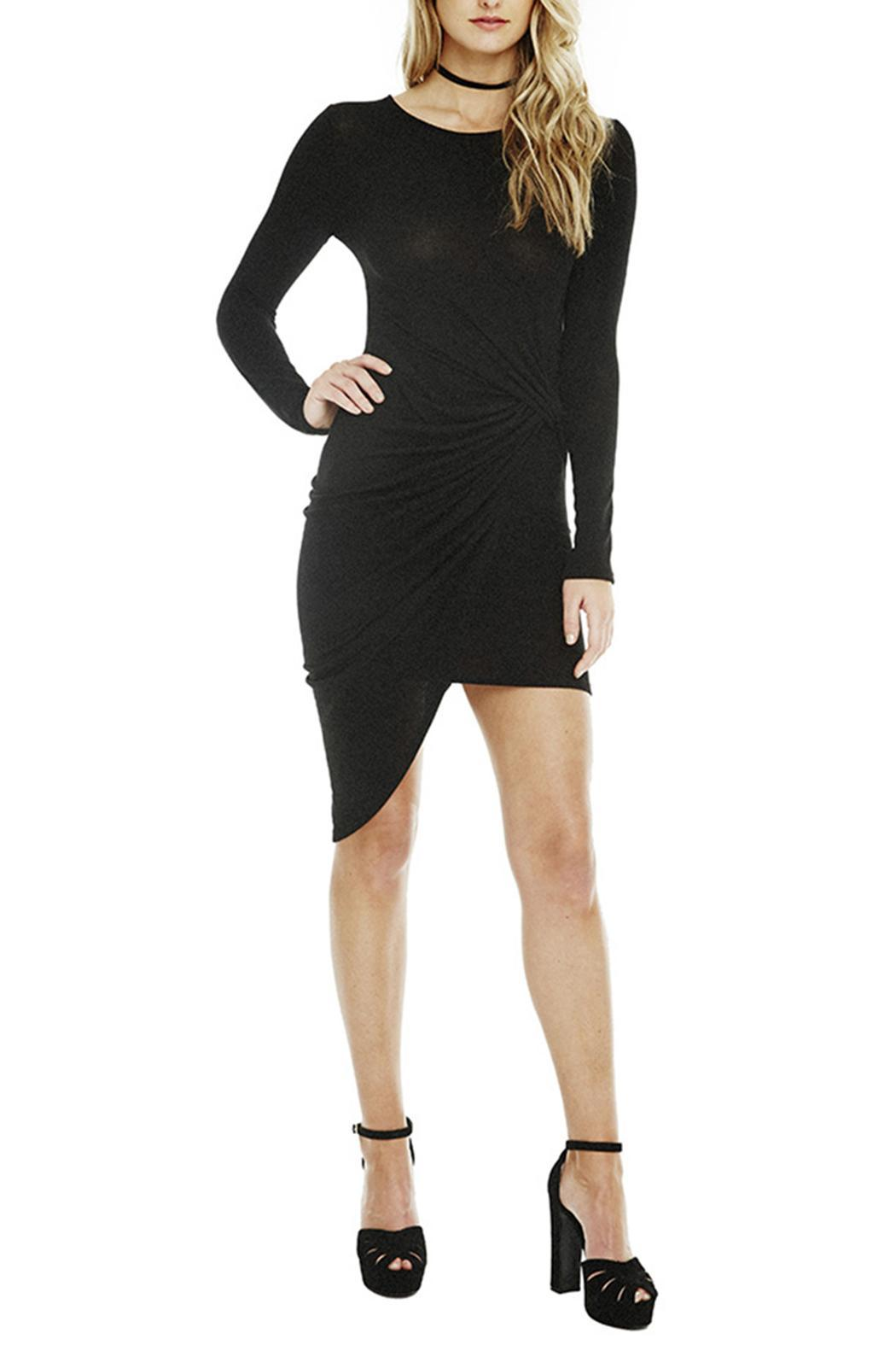 ASTR Naomi Ruched Dress - Front Cropped Image