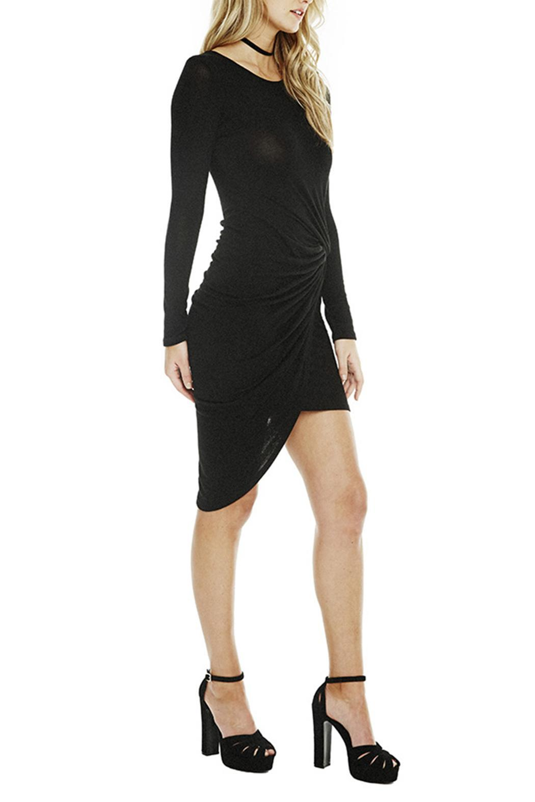 ASTR Naomi Ruched Dress - Front Full Image
