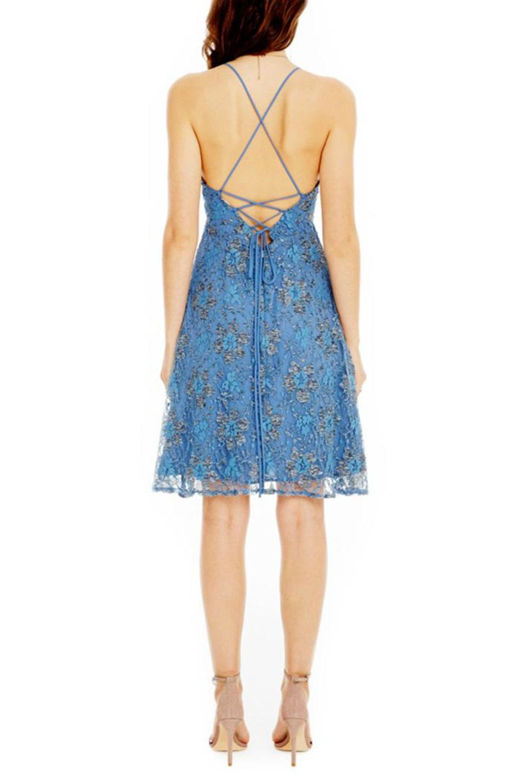 ASTR Periwinkle Lace Dress - Front Full Image