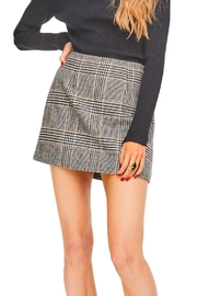 ASTR Raye Plaid Skirt - Product Mini Image