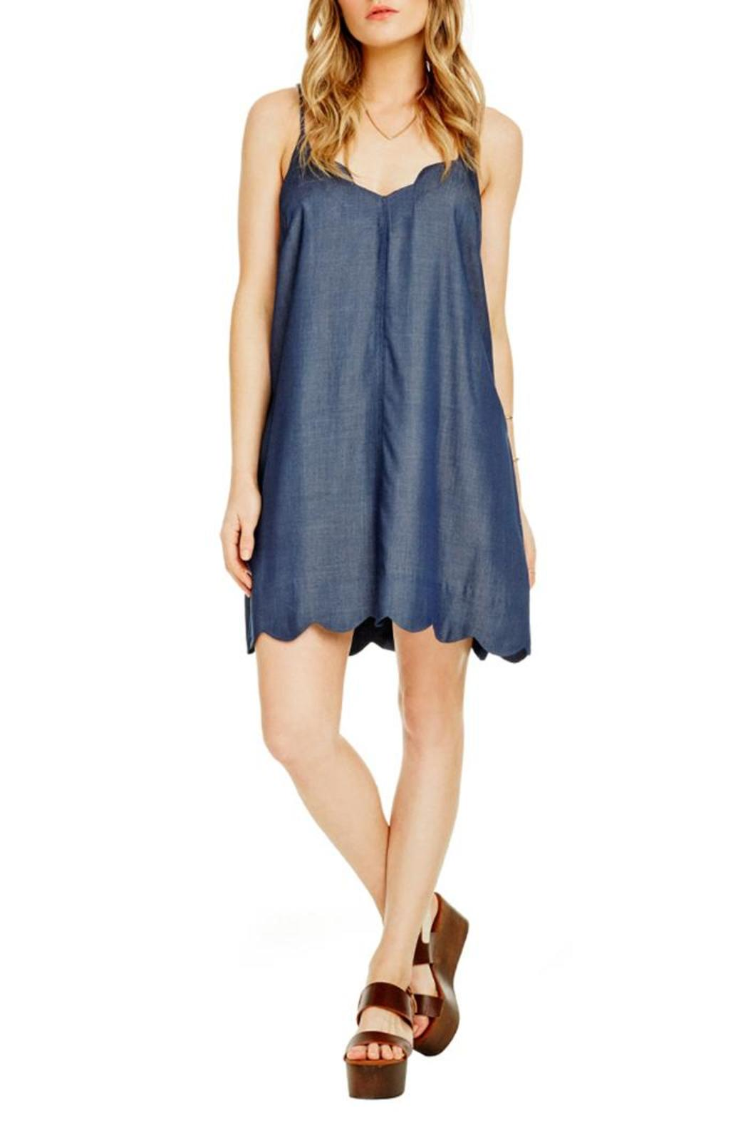 Astr scalloped chambray dress from california by hourglass for Chambray dress
