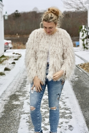 ASTR Shaggy Jacket - Front cropped