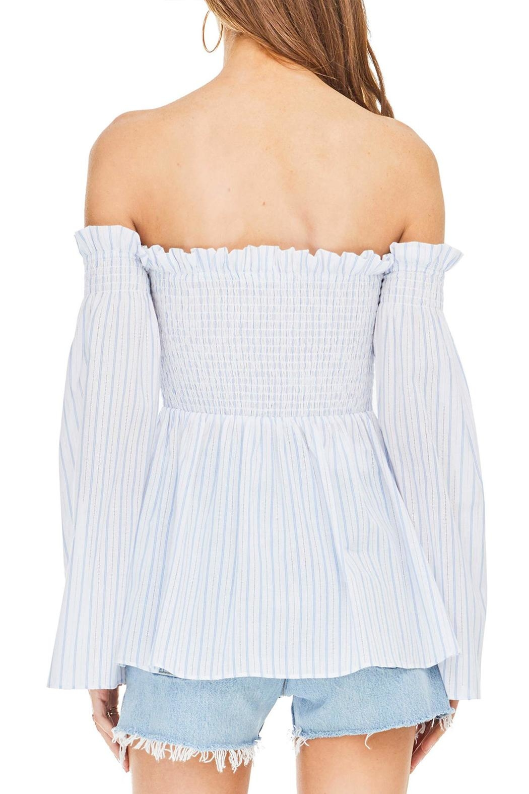 ASTR Shelby Smocked Top - Side Cropped Image