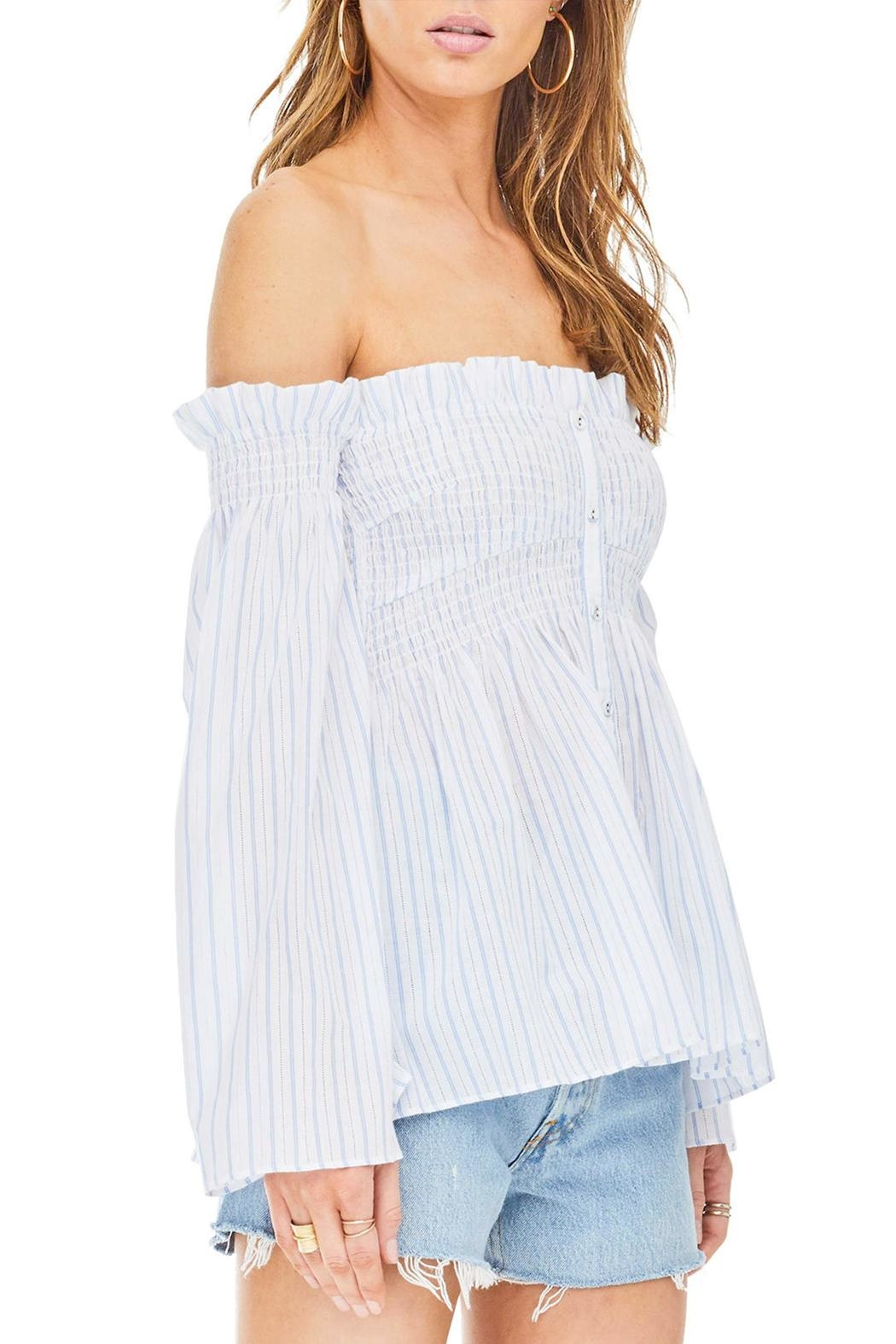 ASTR Shelby Smocked Top - Front Full Image