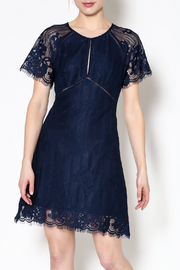 ASTR Shelley Navy Dress - Front cropped