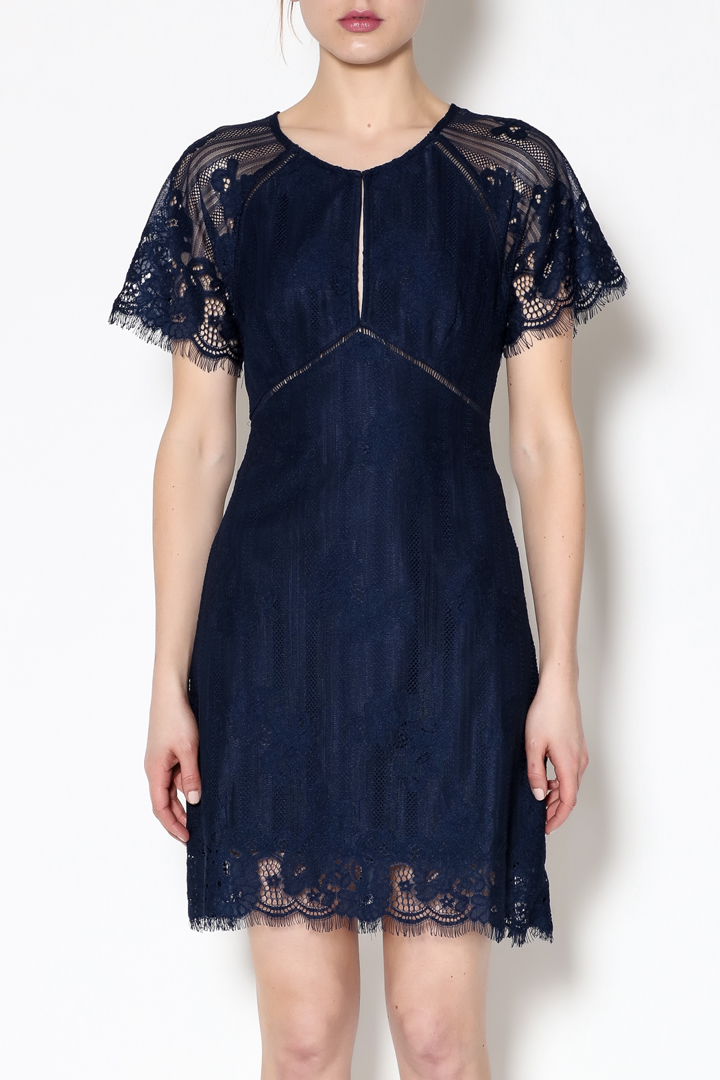 ASTR Shelley Navy Dress - Side Cropped Image