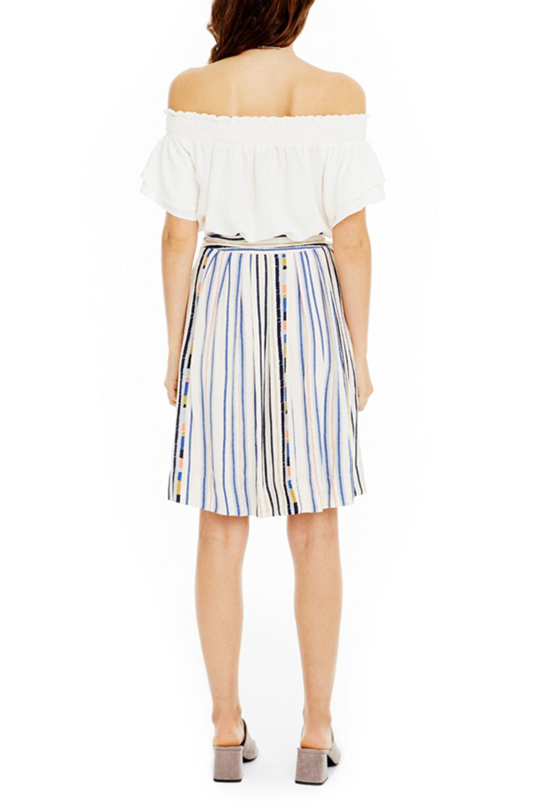 ASTR Striped Tie-Waist Skirt - Side Cropped Image