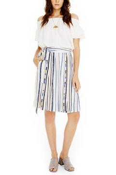 ASTR Striped Tie-Waist Skirt - Product List Image