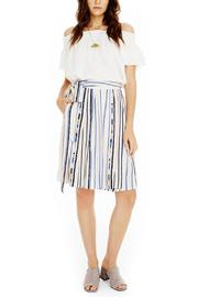 ASTR Striped Tie-Waist Skirt - Product Mini Image