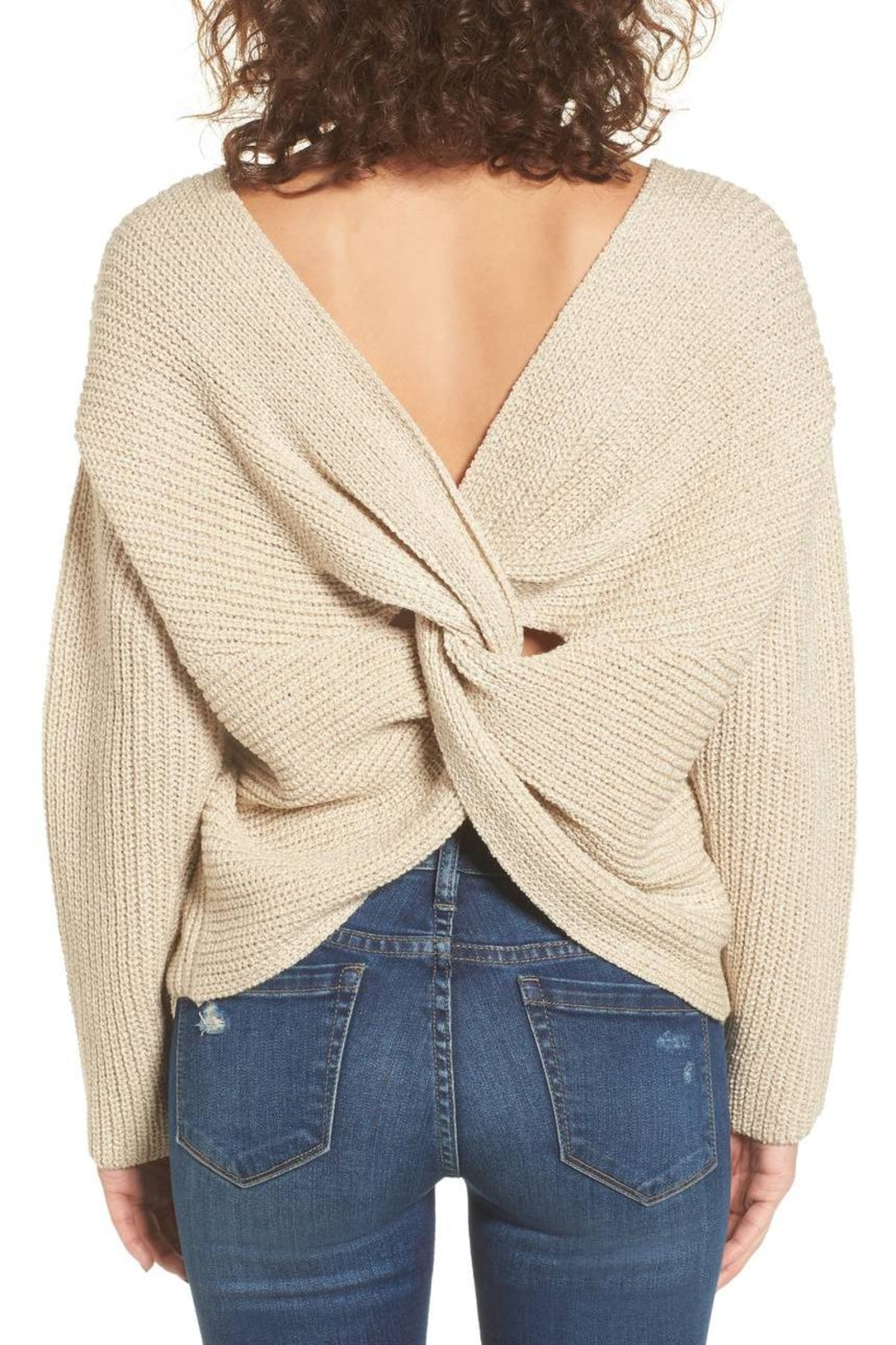 ASTR Twist Back Sweater - Front Full Image