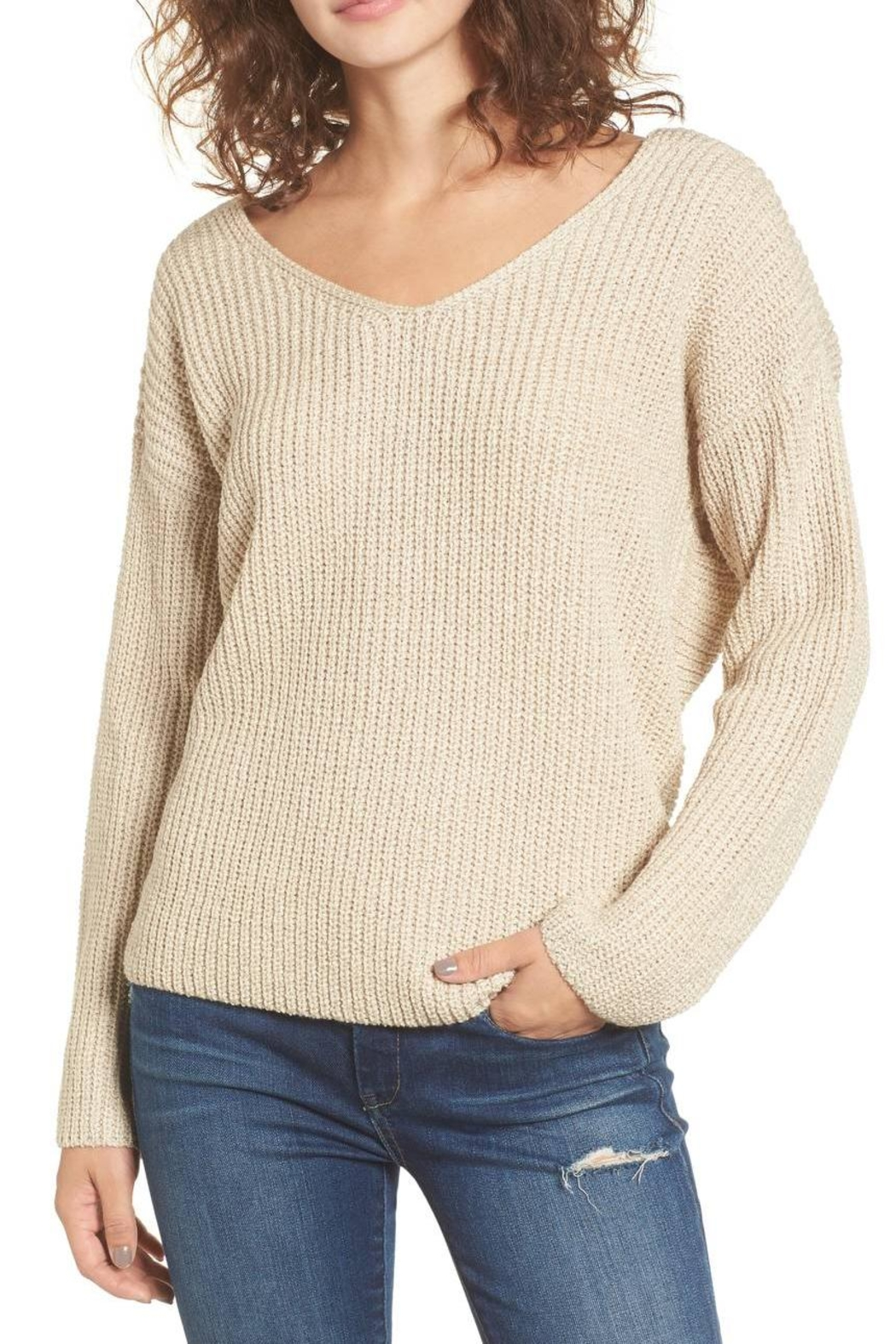 ASTR Twist Back Sweater - Main Image