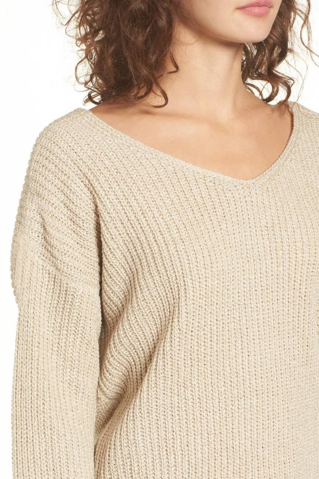 ASTR Twist Back Sweater - Side Cropped Image