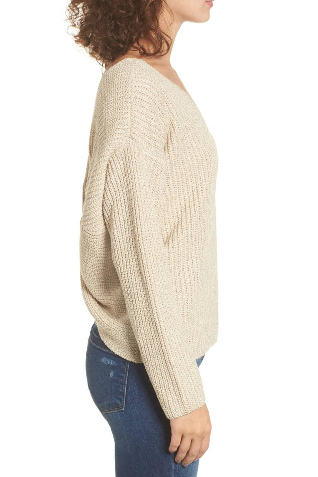 ASTR Twist Back Sweater - Back Cropped Image