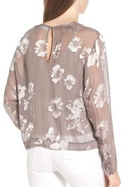 ASTR Velvet Floral Top - Front full body