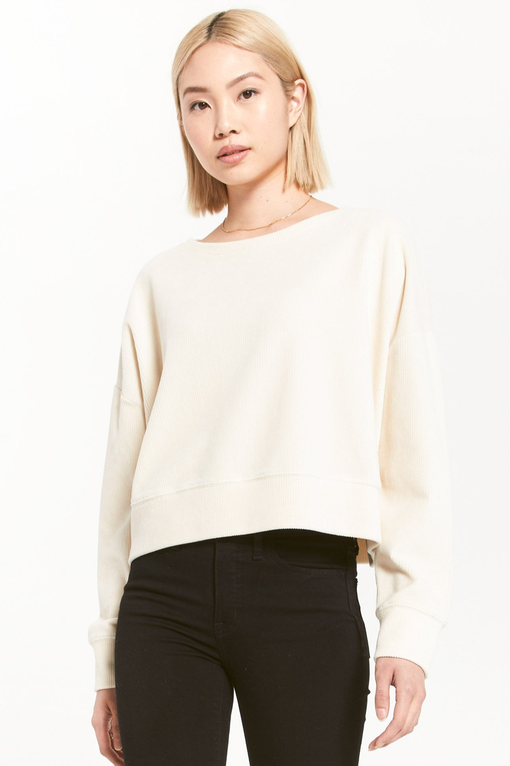 z supply Astrid Cord Pullover - Front Cropped Image