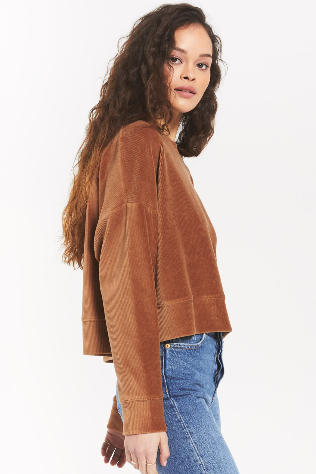 z supply Astrid Cord Pullover - Front Full Image