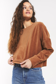 z supply Astrid Cord Pullover - Front cropped