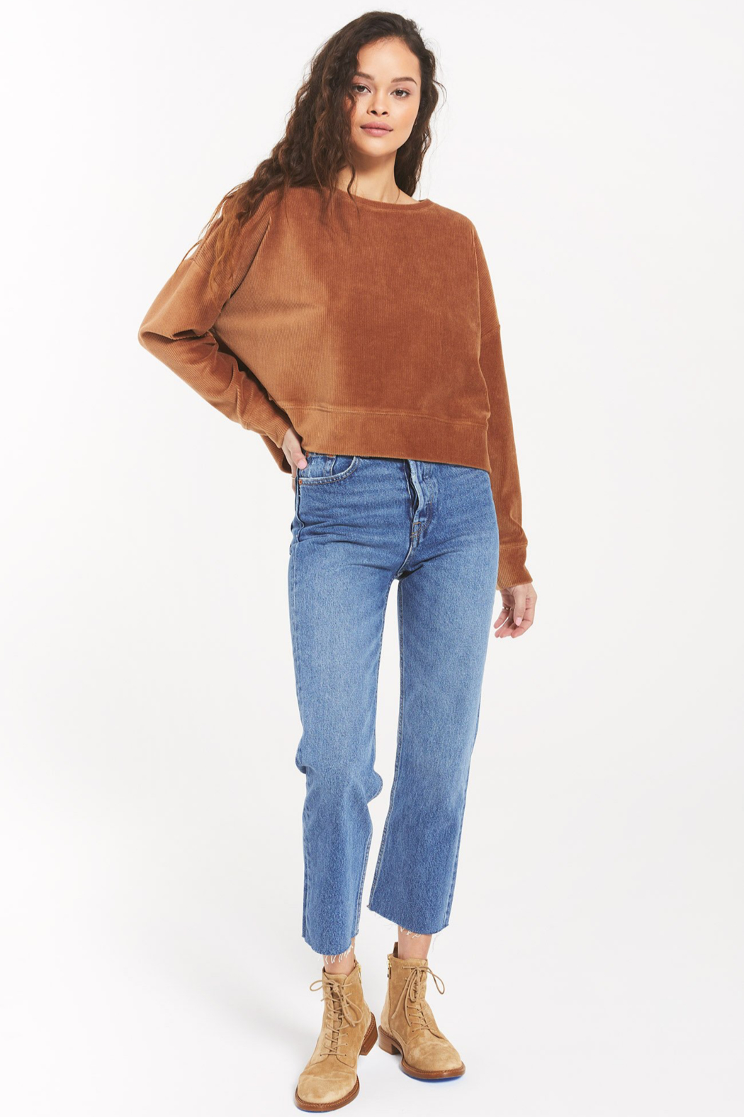 z supply Astrid Cord Pullover - Side Cropped Image