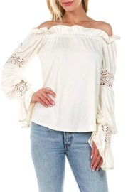 Vava by Joy Hahn Astrid Off Shoulder Lace Detail Top - Product Mini Image