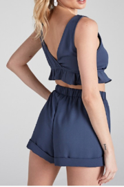 blue blush Astrid Set (Top) - Front full body