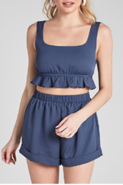 blue blush Astrid Set (Top) - Front cropped