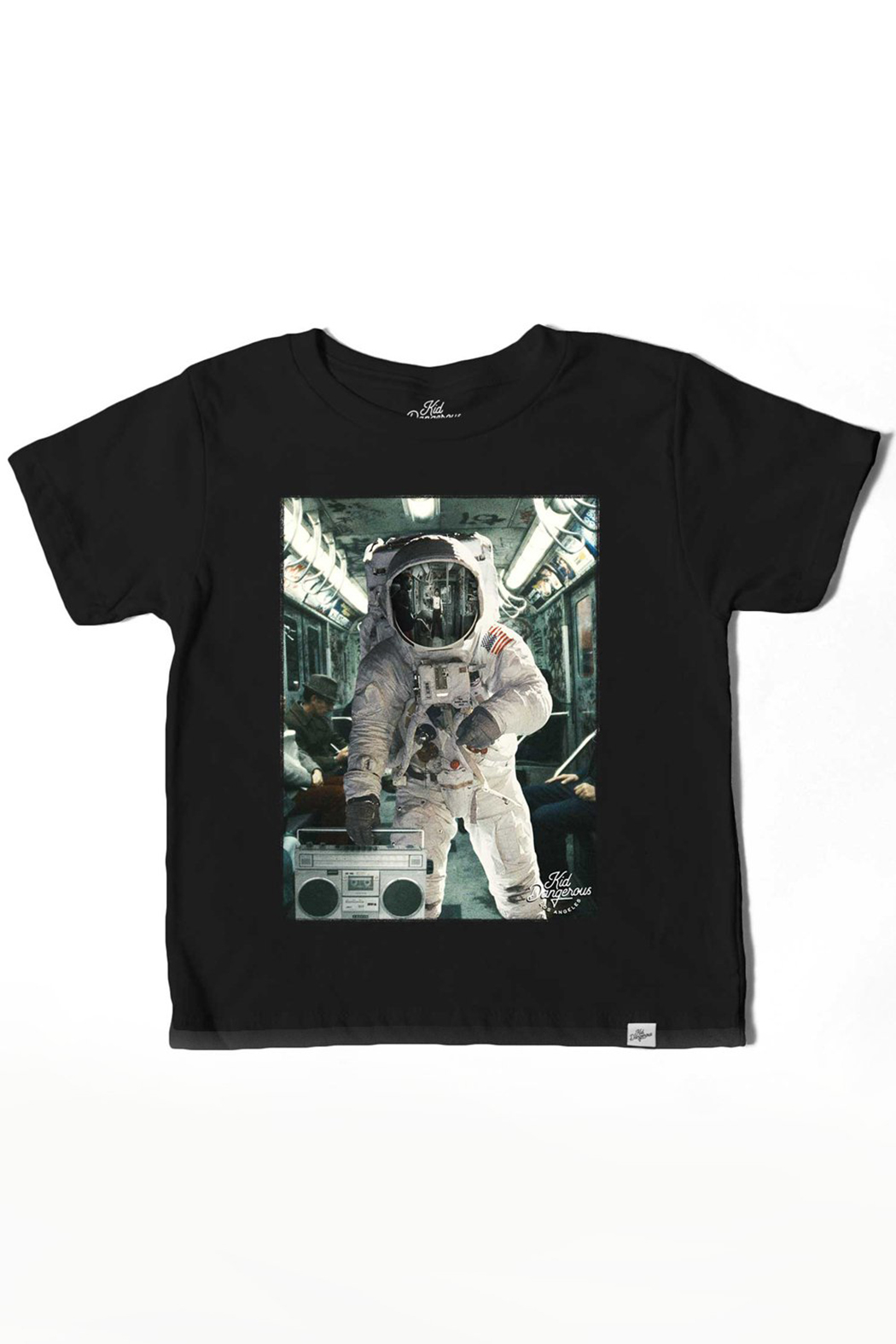 Kid Dangerous Astronaut Boombox Tee - Front Cropped Image