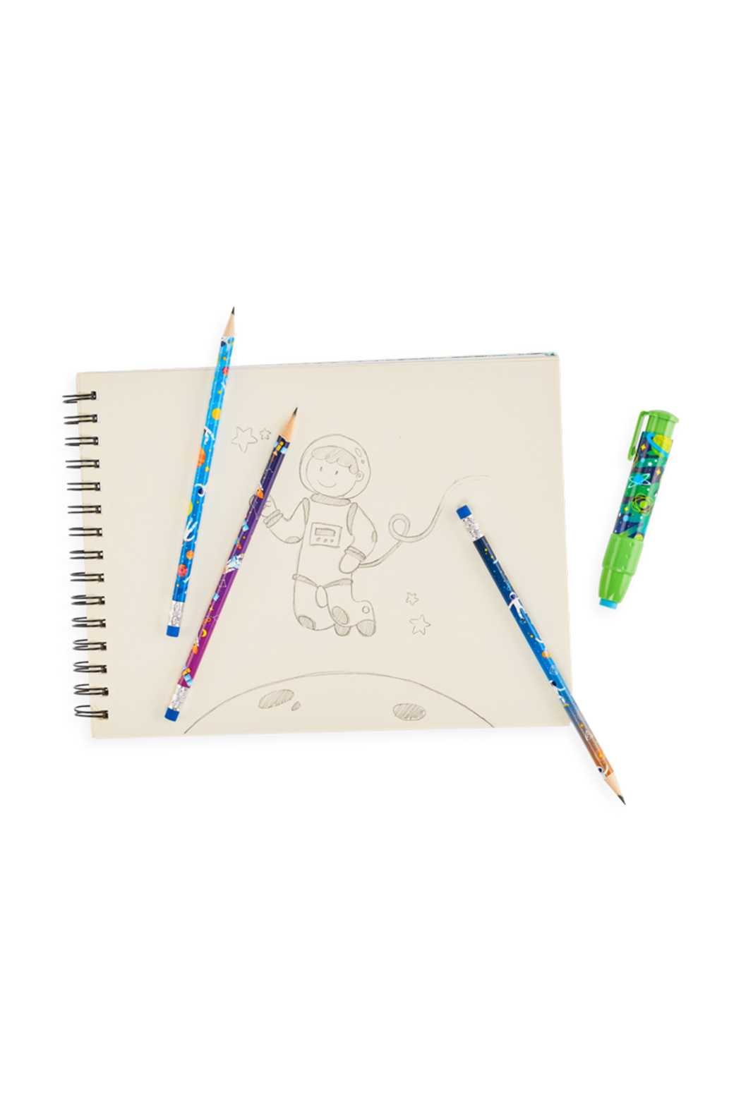 Ooly Astronaut Graphite Pencils - Set Of 12 - Back Cropped Image