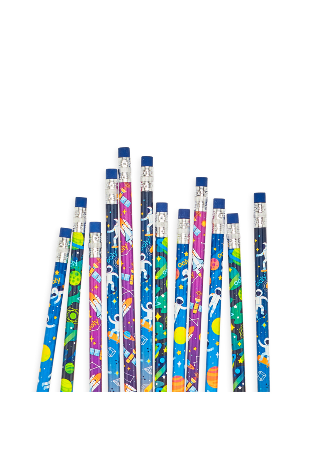 Ooly Astronaut Graphite Pencils - Set Of 12 - Front Full Image