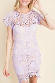 Pretty Little Things Asymetrical Lace Dress - Product Mini Image