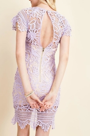 Pretty Little Things Asymetrical Lace Dress - Front full body