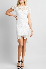 Pretty Little Things Asymetrical Lace Dress - Front cropped