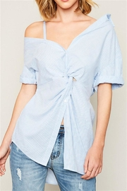 Hayden Asymetrical Shoulder Top - Product Mini Image