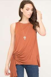 She + Sky Asymetrical Sleeveless Top - Product Mini Image